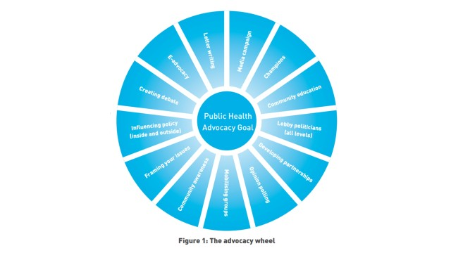 Advocacy wheel and other figures